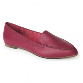 Audra Magenta Me Too Leather Loafer Flats