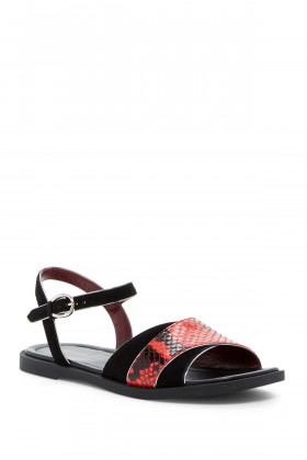 Marc by Marc Jacobs Womens M9000661 Jodie Red Black Marc Jacobs Sandal