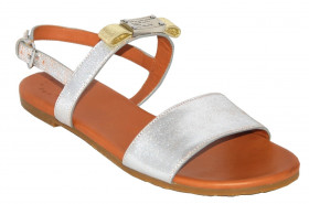 Marc Jacobs Womens 645039 Silver Marc Jacobs Sandal