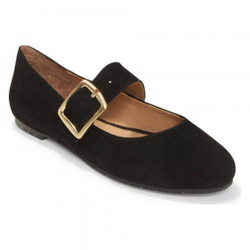 Crissy Black Suede Me Too Flat Mary Janes