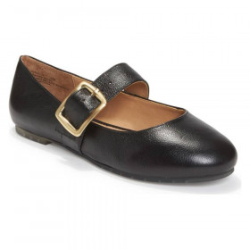 Crissy Black Leather Me Too Flat Mary Janes
