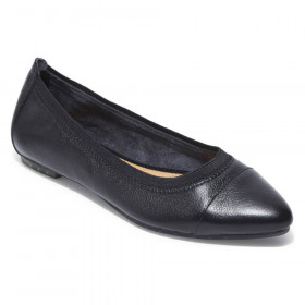 Arianna Black Me Too Leather Ballerina Flats