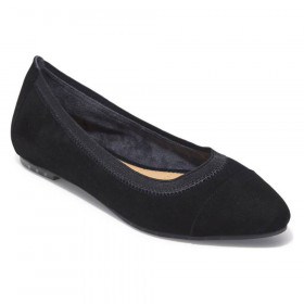 Arianna Black Suede Me Too Ballerina Flats
