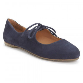 Cacey Navy Suede Me Too Flat Mary Janes