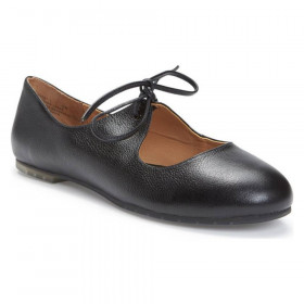 Cacey Black Leather Me Too Flat Mary Janes
