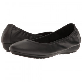 Janell Black Me Too Leather Ballerina Flats