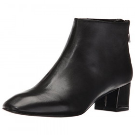 Anna Black Leather Nine West Bootie