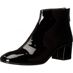 Anna Black Patent Nine West Bootie