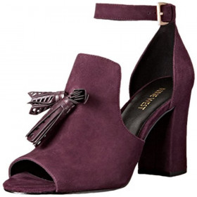 Bevy Wine Suede Nine West Sandal