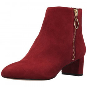 Krimp Red Suede Nine West Bootie