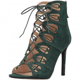 Leslie Green Suede Nine West Caged Sandal