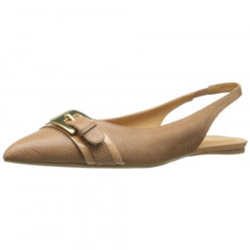 Anyamarie Natural Nine West Slingback Flat