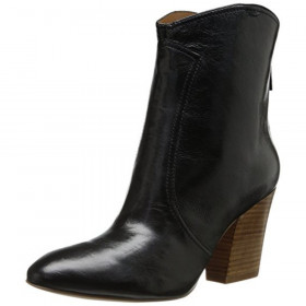 Dashiell Black Leather Nine West Bootie