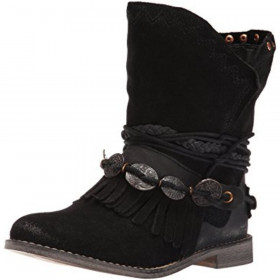 Anaeh Black Musse & Cloud Ankle Boot