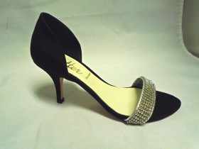 Caper Black Butter Sandal Pump