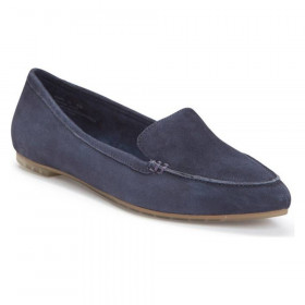 Audra Dark Navy Suede Me Too Loafer Flats