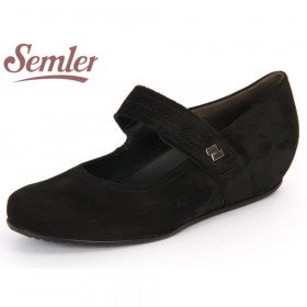 Gina Black Semler Mary Jane Wedge Flat