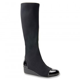 Ebony Black Ros Hommerson Wedge Fabric Boot