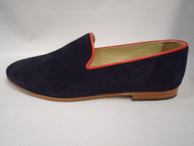 Navy Red Suede Resipsa Loafer