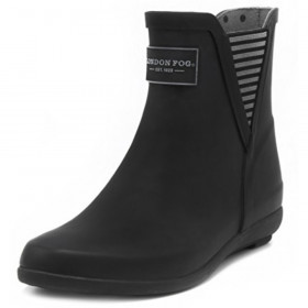 Piccadilly Black London Fog Wellies Rain Ankle Boot
