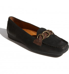 Marina Black Paul Green Loafer Flat