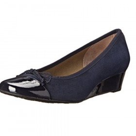 Diverse Navy Pat FS/NY Wedge Pump