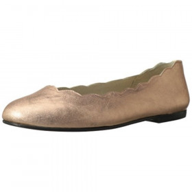 Jigsaw Rose Gold Metallic Patent FS/NY Ballet Flats