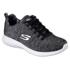 12834 Black White Ultra Flex Skechers