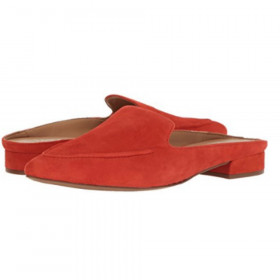 Sela Orange Suede Franco Sarto Mule Flat