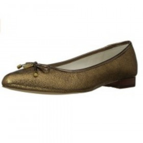 Ovi Bronze Leather Anne Klein Flat
