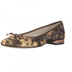 Ovi Dark Grey Gold Multi Fabric Anne Klein Flat
