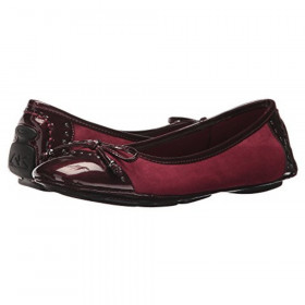 Buttons Dark Wine Anne Klein Flat