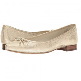 Ovi Gold Leather Anne Klein Flat