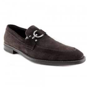 Bryc23 Expresso Donald Pliner Suede Loafers