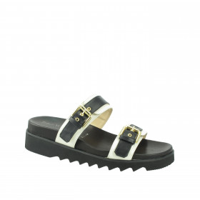 France Onyx Ice Ron White Platform Sandal