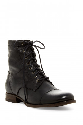 Erin Work Black Leather Frye Ankle Boot