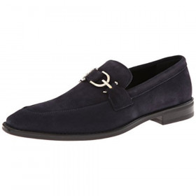 Bryc23 Navy Donald Pliner Suede Loafers