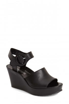 Lorelle Black Cordani Wedge Sandal