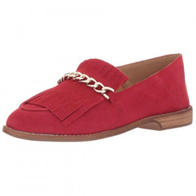 Augustine Red Franco Sarto Loafer Flat