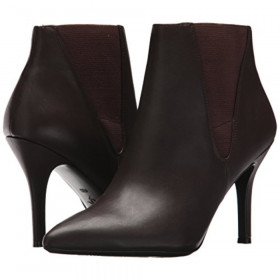 Front 9X9 Brown Leather Nine West Bootie