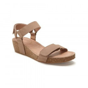 Shea Rose Adam Tucker Leather Wedge Sandal