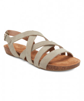 Nickie Stone Adam Tucker Leather Flat Sandal