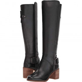 Mystic Black Leather Franco Sarto Boot