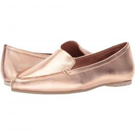 Audra Rose Gold Me Too Leather Loafer Flats