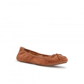 Halle Chestnut Suede Me Too Flat