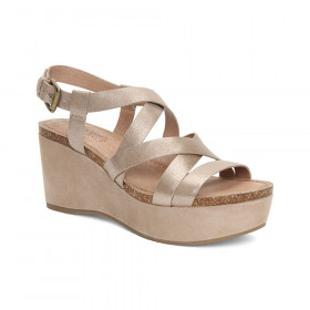 Bria Champagne Adam Tucker Wedge Sandal