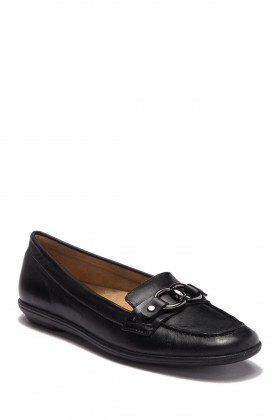 Ainsley Black Leather Naturalizer Loafer