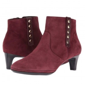 Tacoma Burgundy Suede Comfortiva Ankle Boot