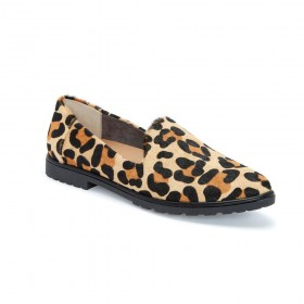 Cambrie Tan Leopard Me Too Loafer Flat
