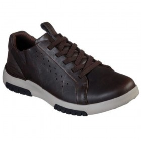 66139 Bellinger Brown Skechers Mens